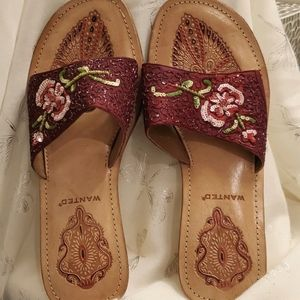 Wanted burgundy 👡 sandals